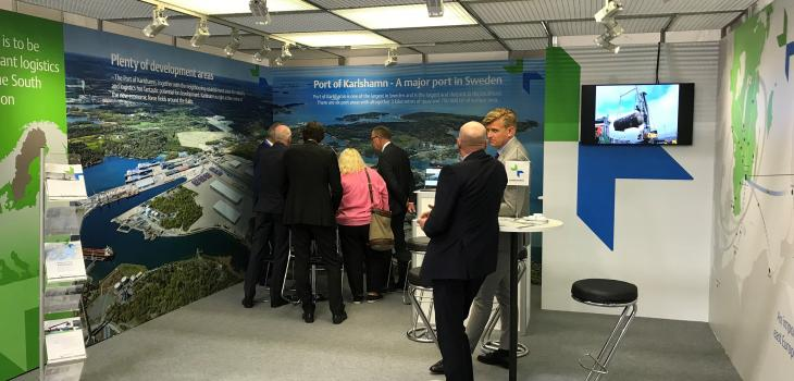 Port of Karlshamn presented ambitious development plans at TransportLogistic 2019